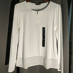 NWT! BANANA REPUBLIC white top w/ blouse bottom